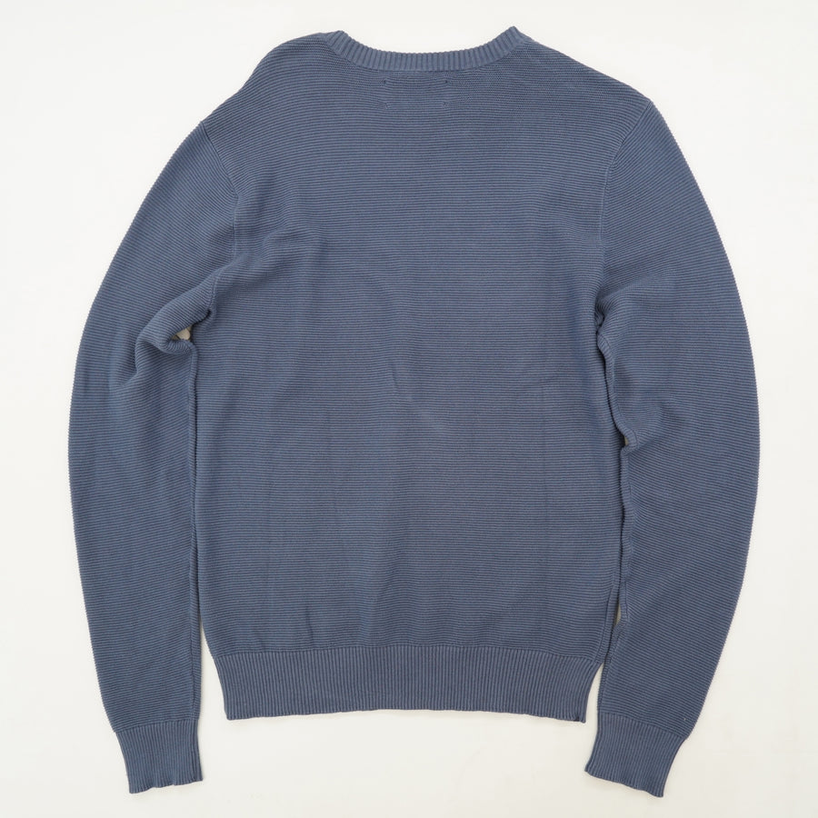 Ribbed Crew-Neck Sweater Size S
