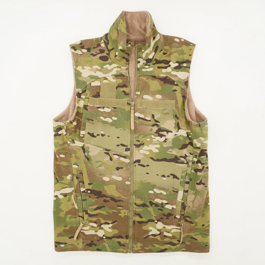 Fleece Lined Camo Vest Size S