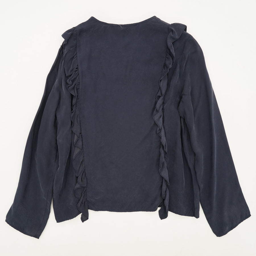 Blouse With Ruffles Size M