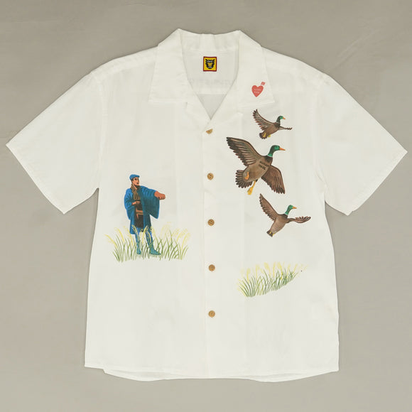 'Rare Find' Yokosuka Camp-Collar Printed Voile Shirt - Size S