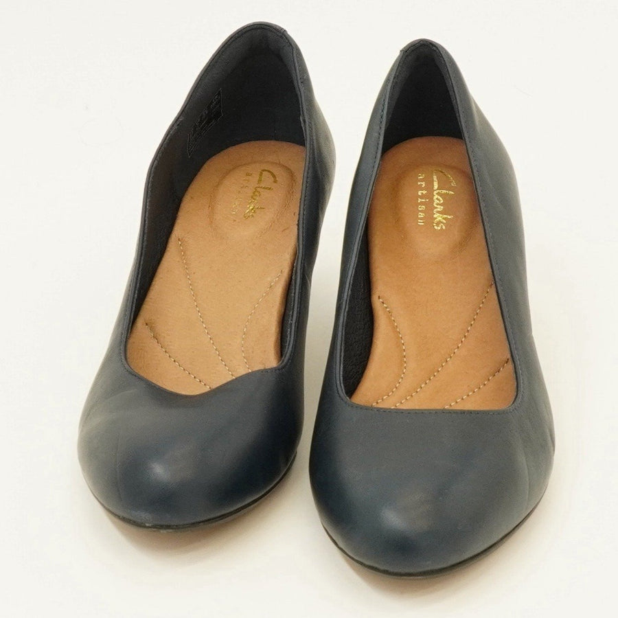 Navy Leather Pumps Size 7