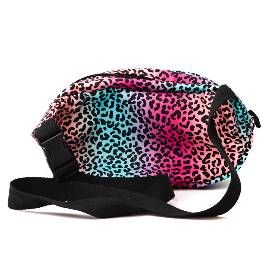 Multicolor Cheetah Print Belt Bag