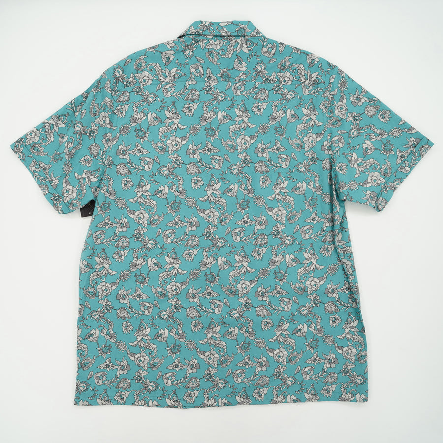 Floral Print Short Sleeve Casual Shirt Size XL