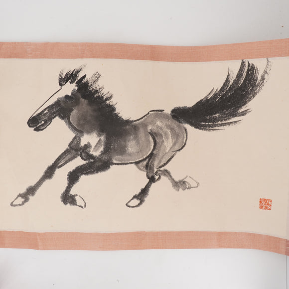 Handpainted Horses Scroll