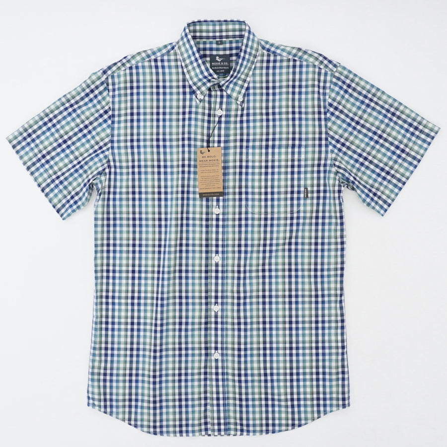 Checked Short Sleeve Button Down Size S