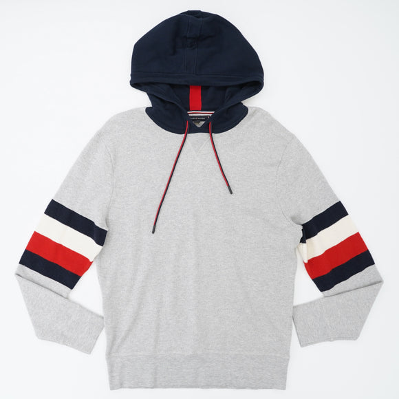 Striped Detail Sweater Hoodie