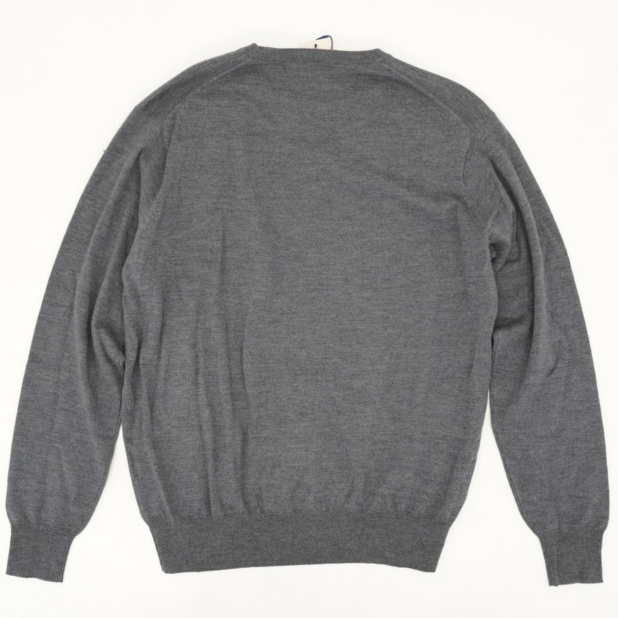 Solid Gray Crewneck Sweater Size L