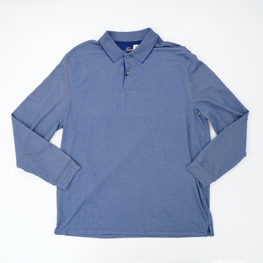 Knit Long Sleeve Polo Size XL