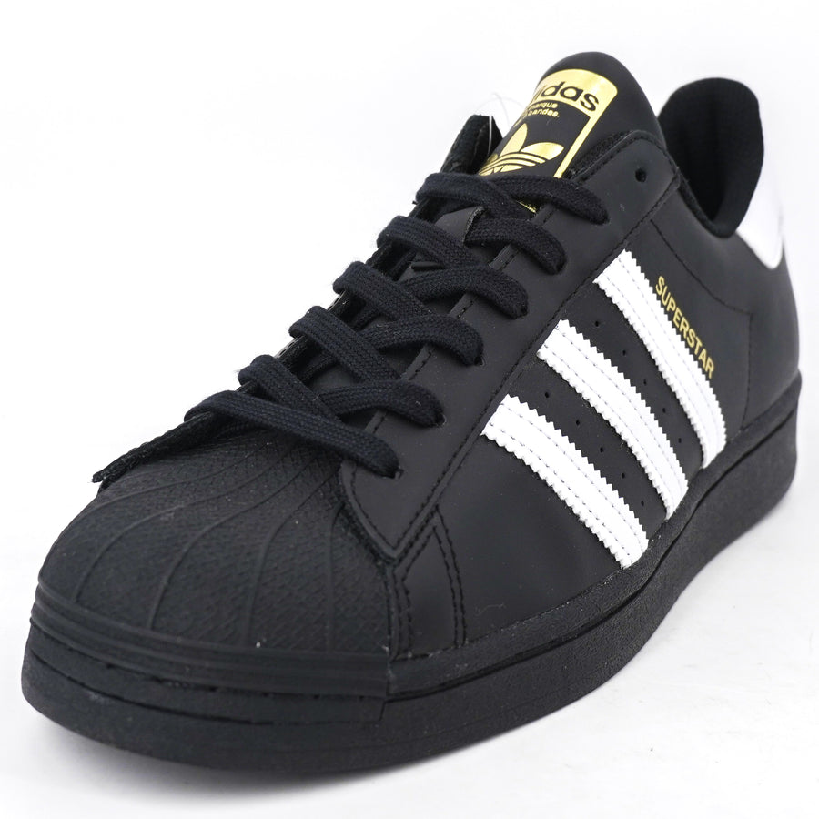 Black Superstar Sneakers Size 9, 9.5