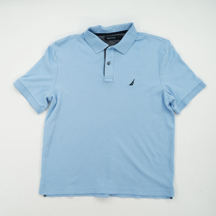 Solid Short Sleeve Polo Size M