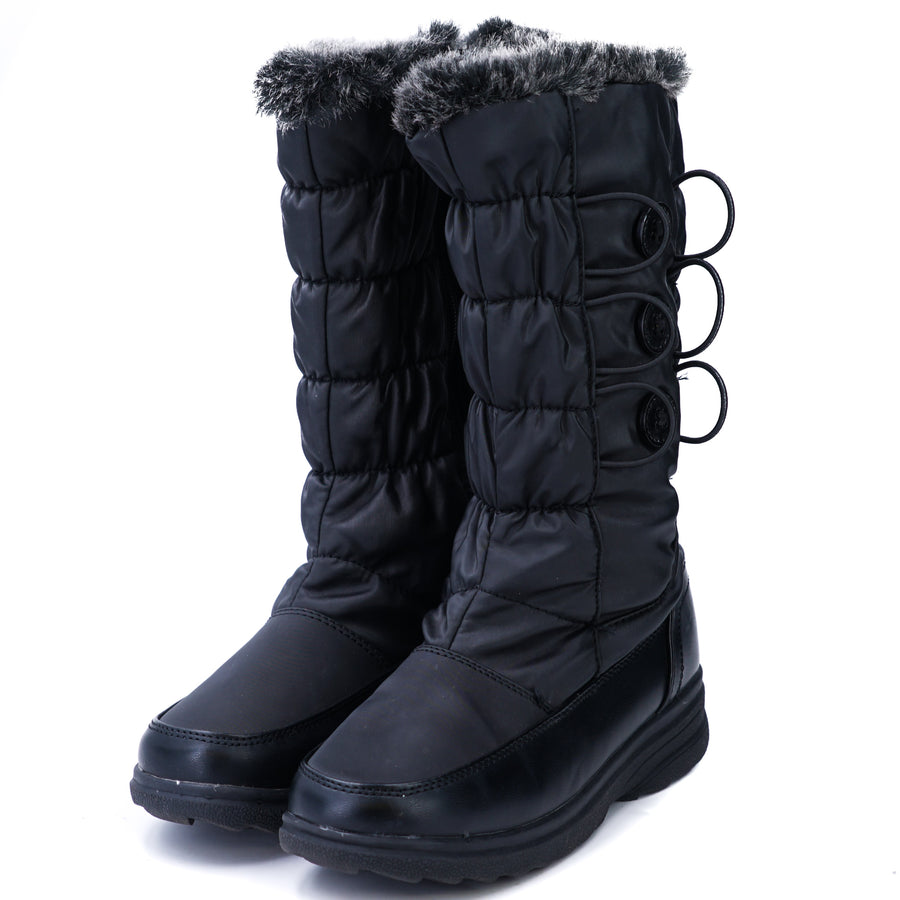 Zip Up Winter Boots With Faux Fur Lining Size 6