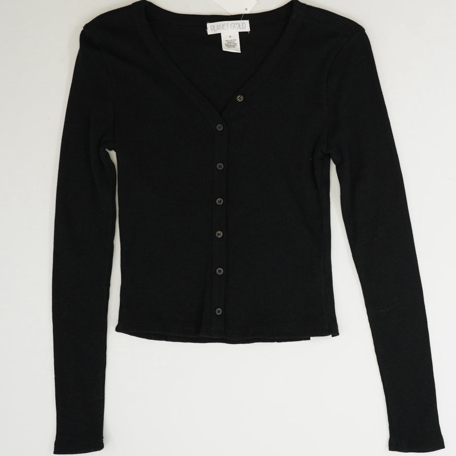 Long Sleeve Button Front Top