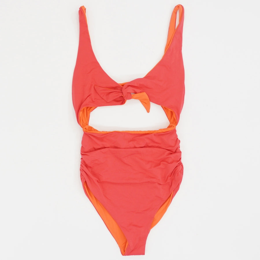 Tie-Front Two Toned One Piece - Size M