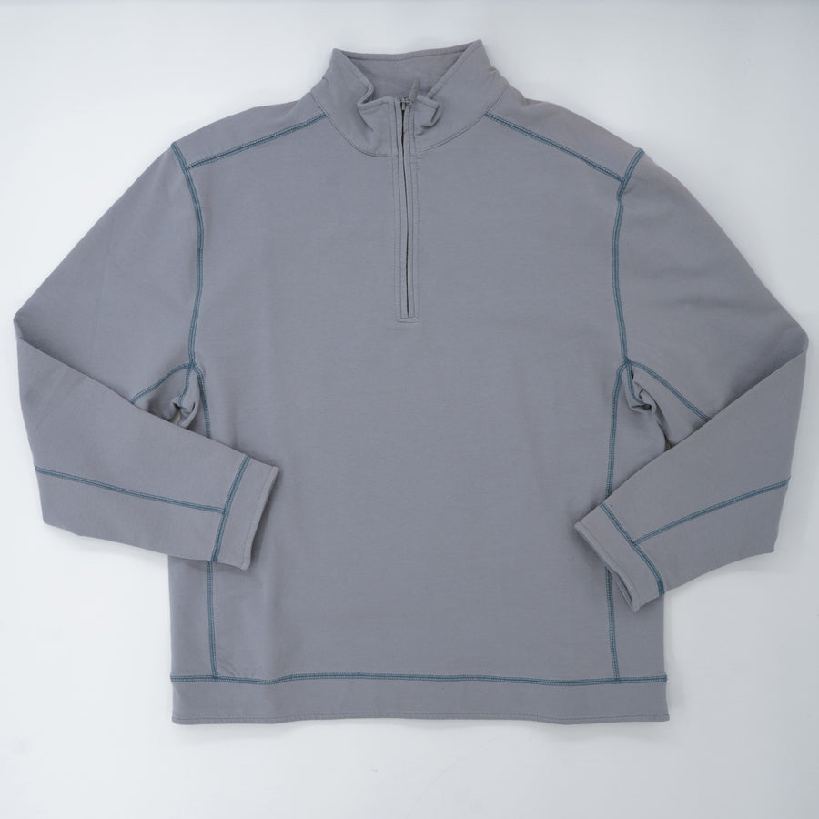Silver 1/4 Zip Up Sweater Size M