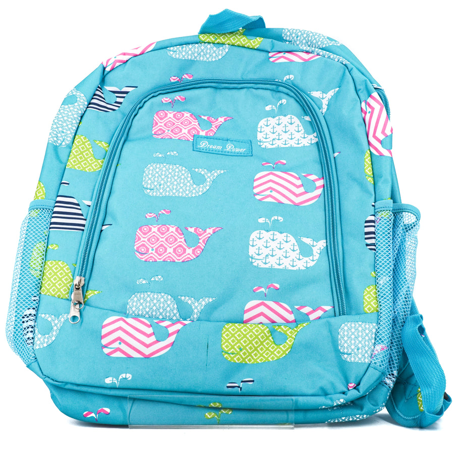 Teal Whale Backpack