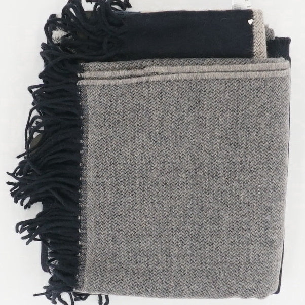 2-Way Black & Gray Stole