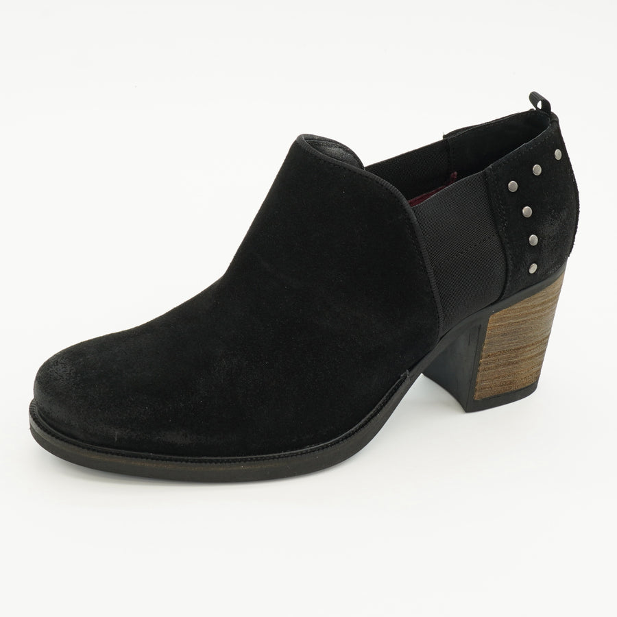 Boon Black Suede Booties