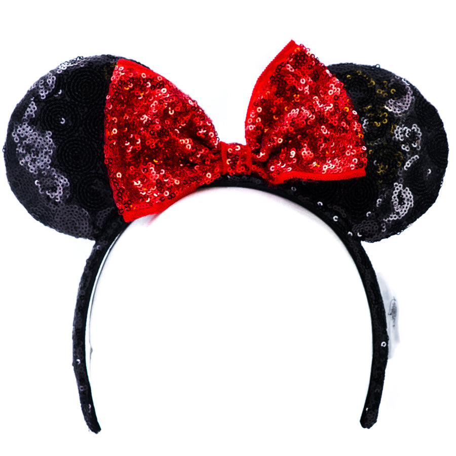 Black and Red Minnie Mouse Ears