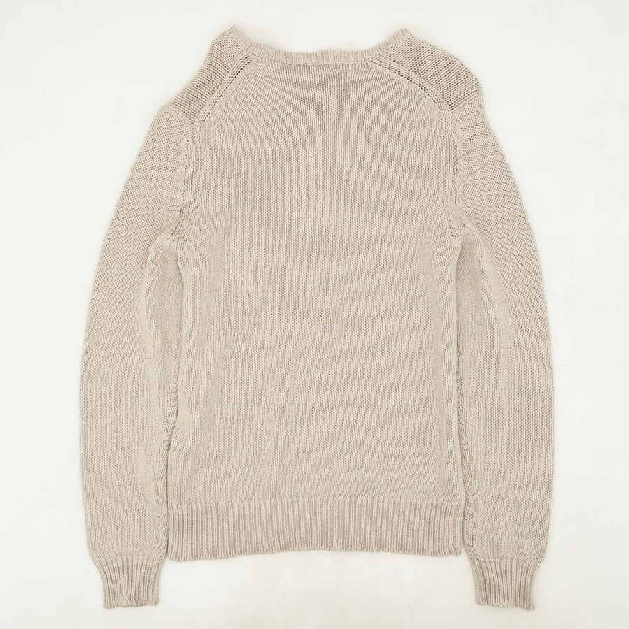 Ivory Knit Pullover Sweater Size L