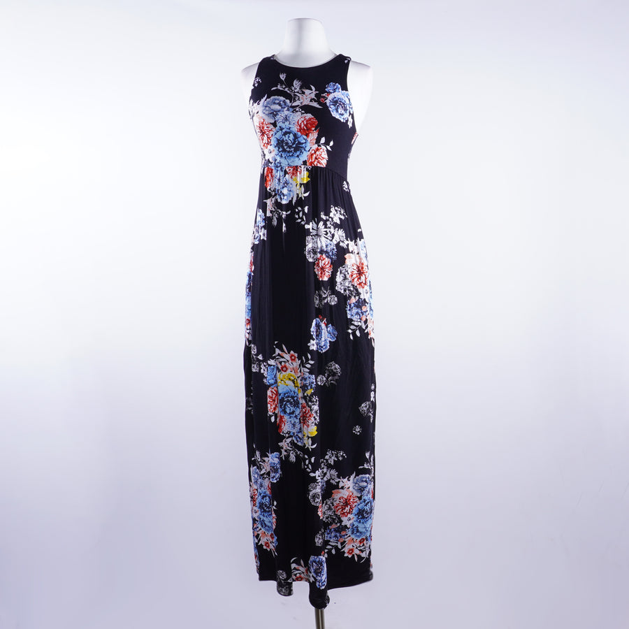 Sleeveless Floral Maxi Dress Size M