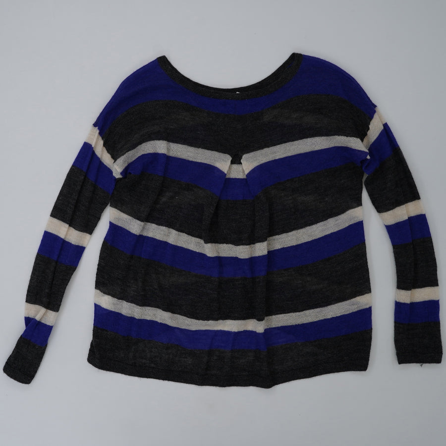 Striped Crew Neck Sweater Size M