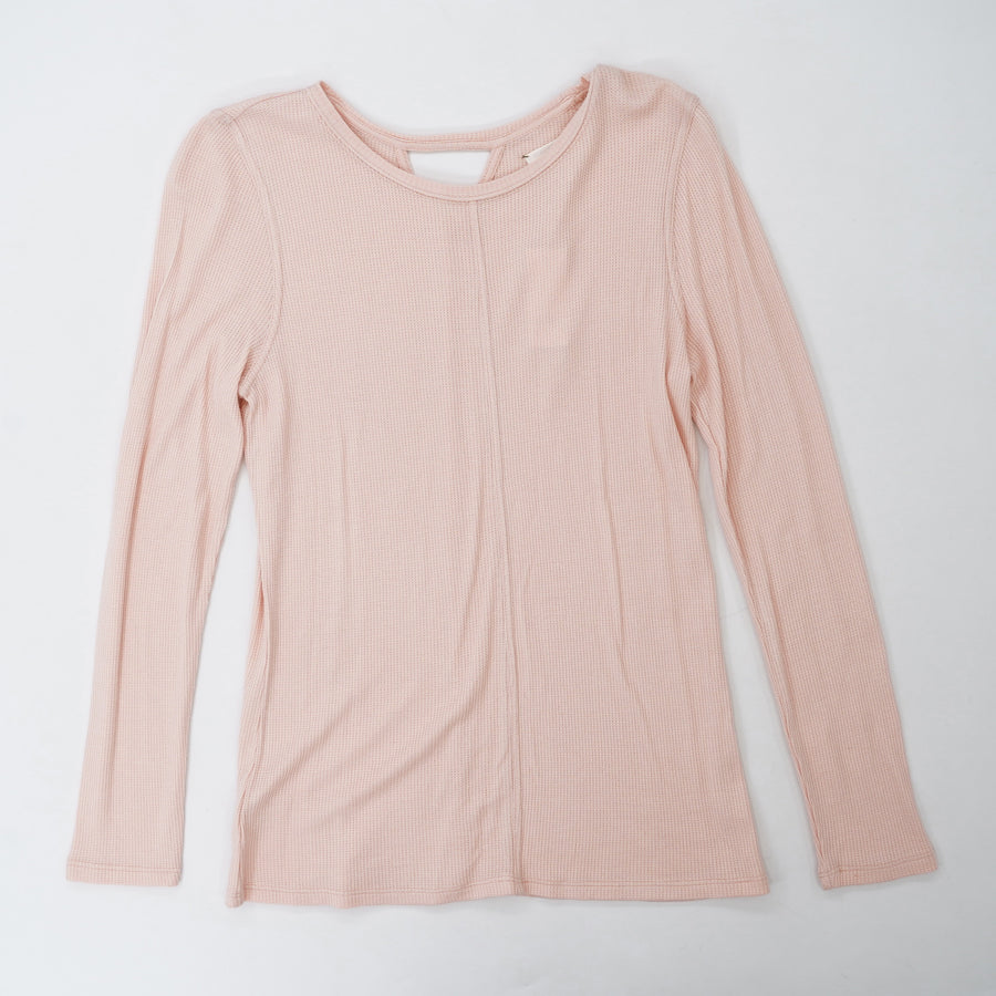 Pink Long Sleeve Blouse With Back Detail Size S