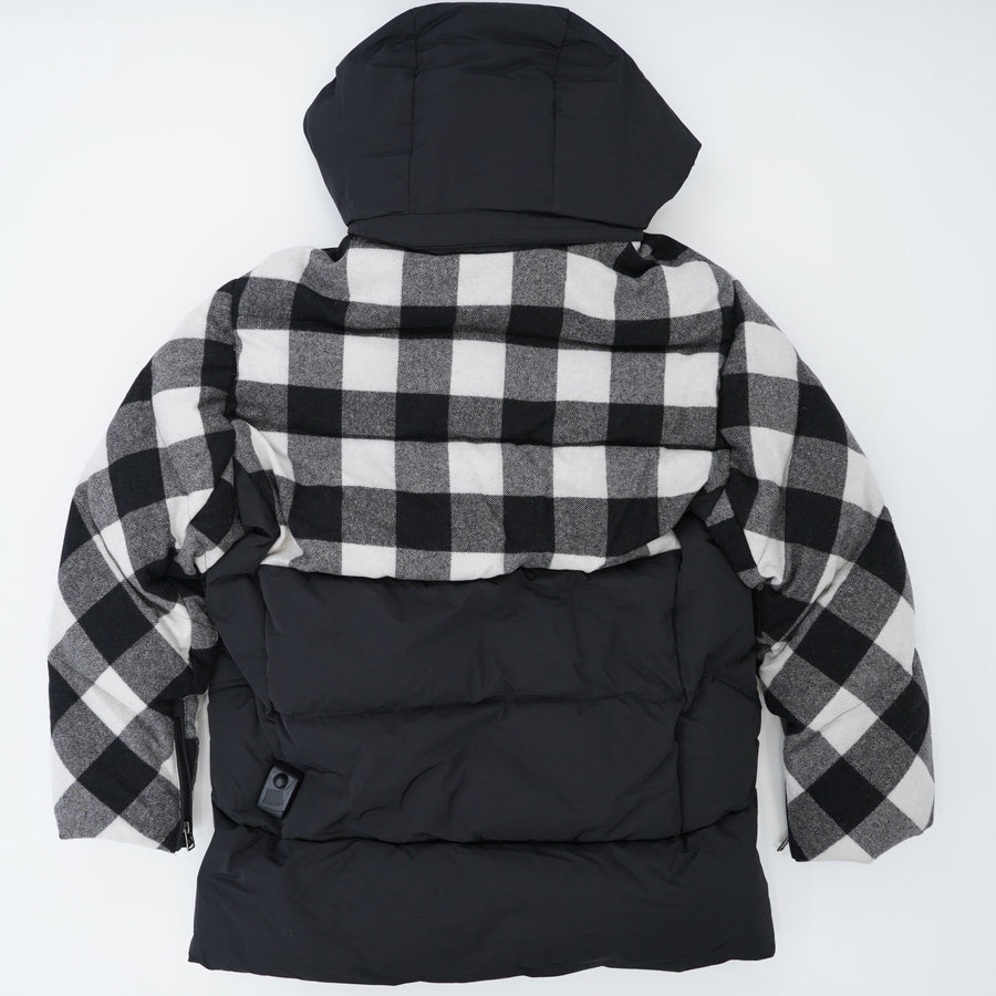 Buffalo Check Water Repellent Puffy Down Coat Size M
