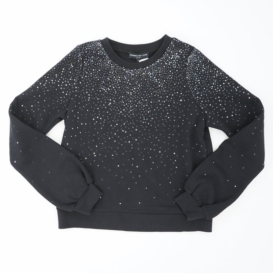 Susan Sequined Sweatshirt Size S