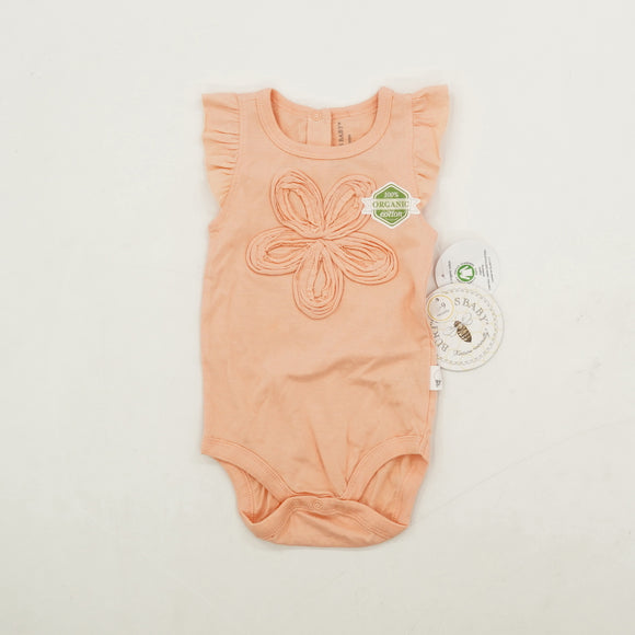 Flower Adorned One Piece Size 6-9 M