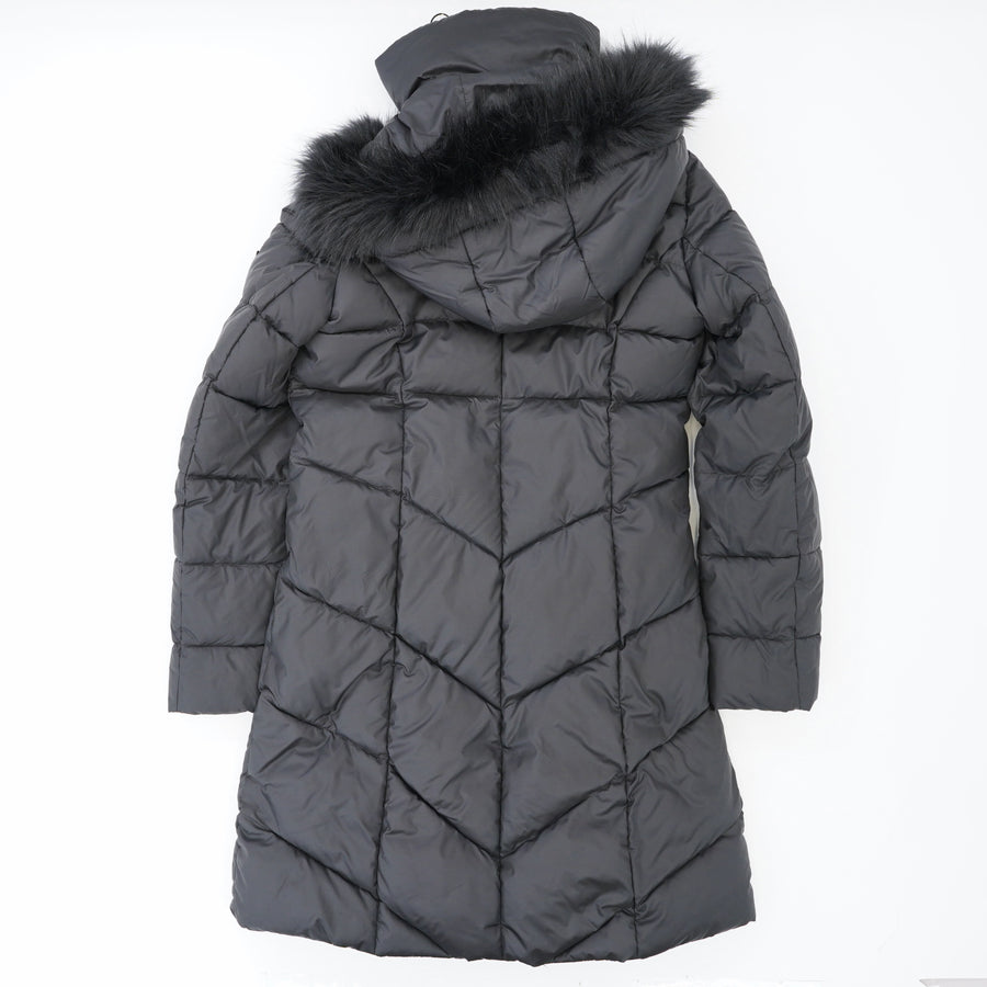 Water-Proof Faux Fur Trim Hooded Coat Size XS