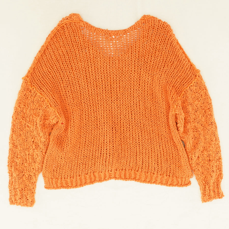 Coral Sands Crocheted Sweater - Size S