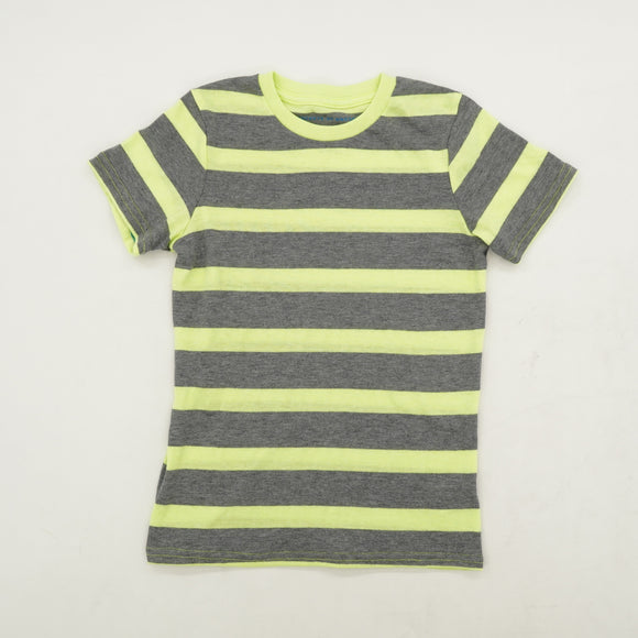 Neon Chunk Striped Tee Size 8