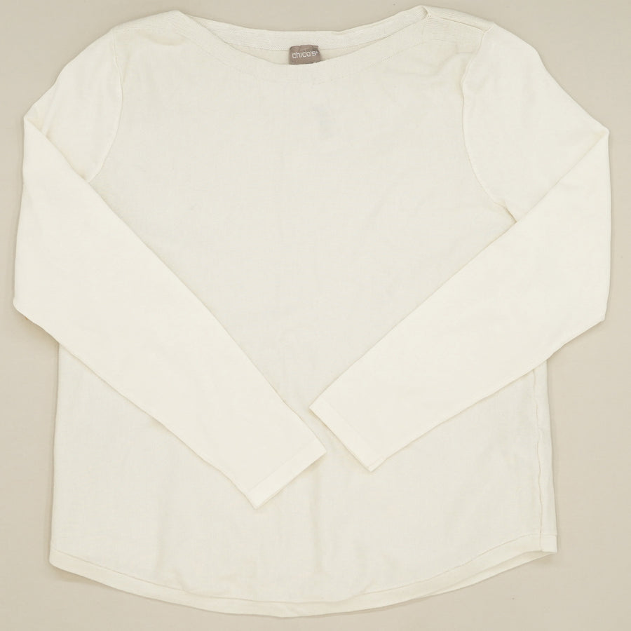 White Relaxed Sweater Size 1P
