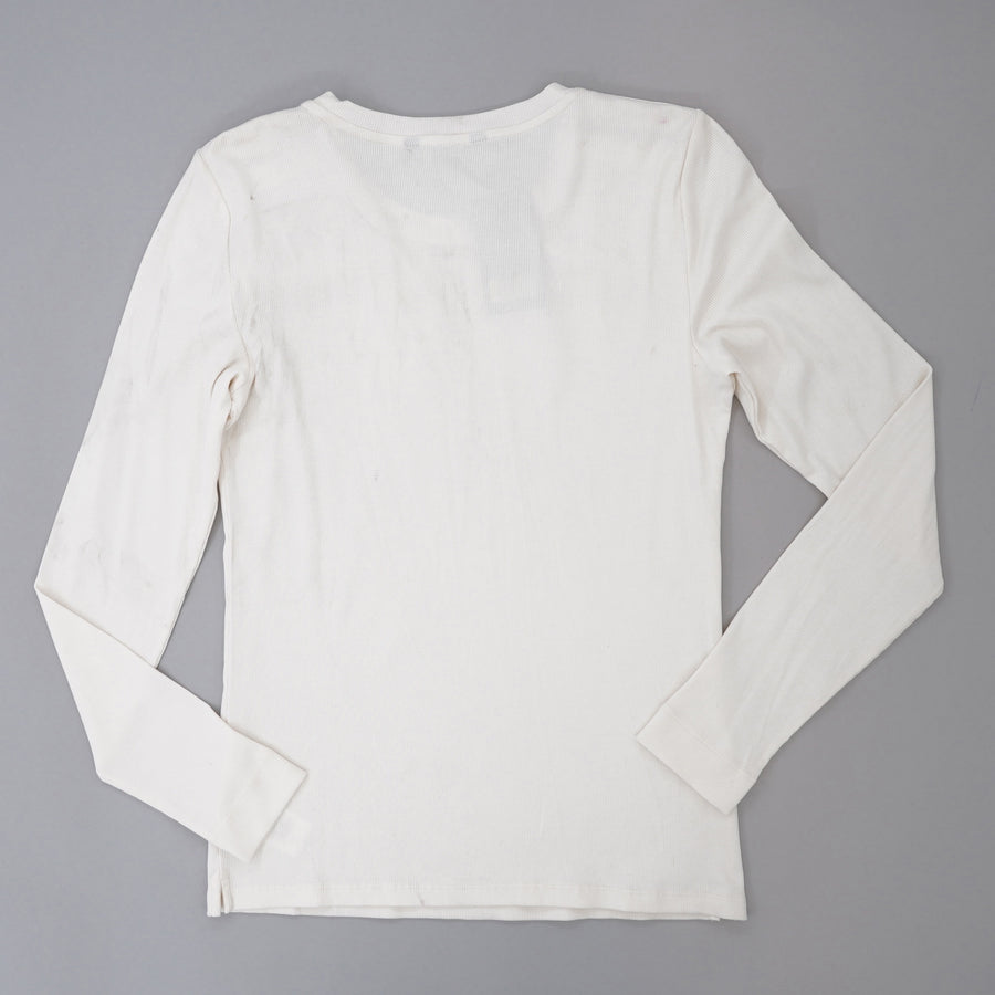 Winter Cream Ribbed Blouse Size L