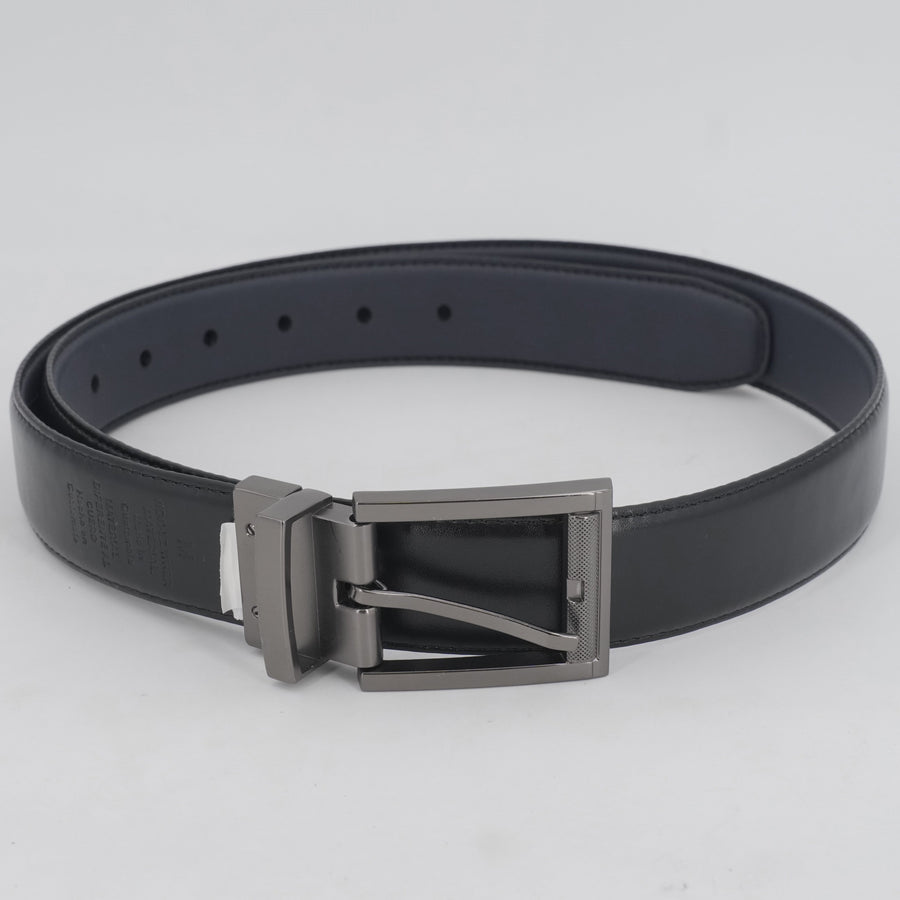 Faux Leather Navy And Black Reversible Belt Size 41