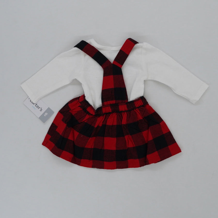 Plaid Dress And Onesie Set Size NB