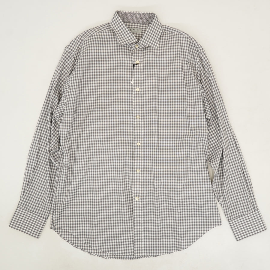 Gray Checked Button Down - Size L