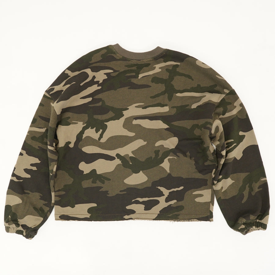 Jungle Camo French Terry Camo Crewneck Size XS