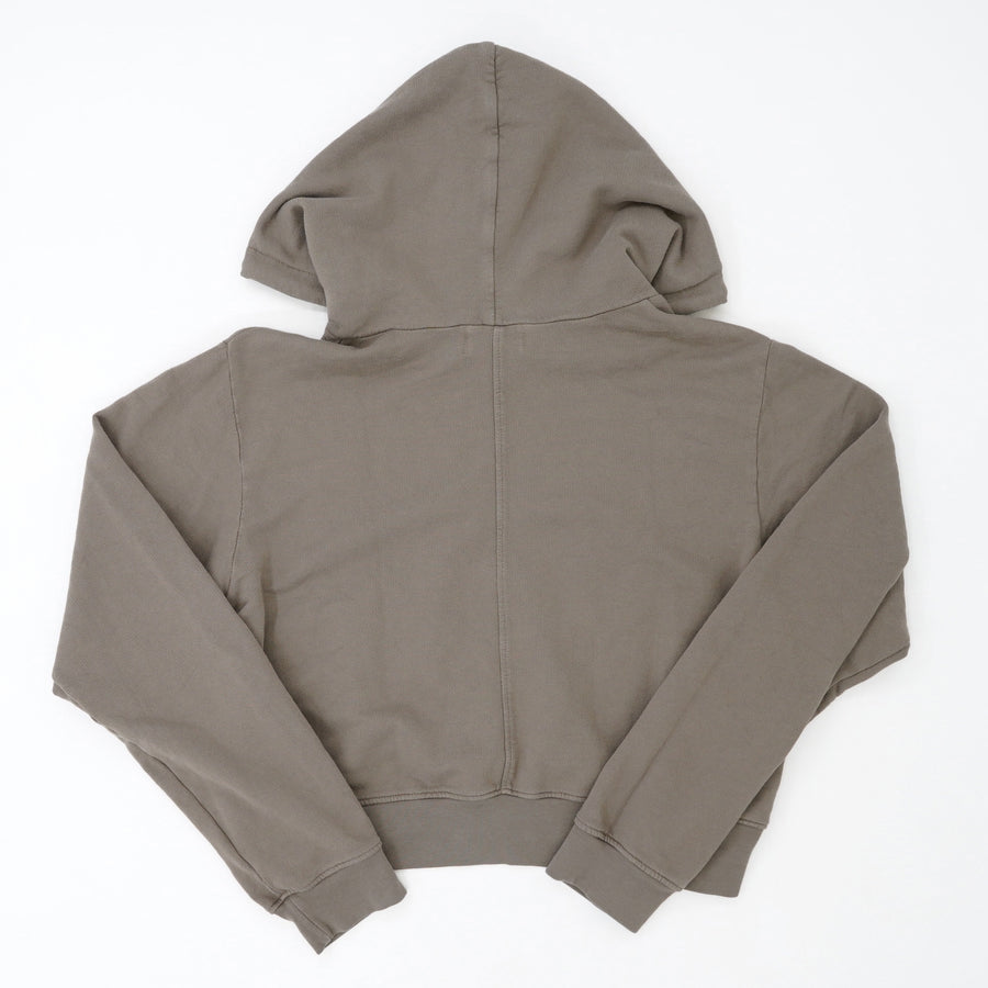 Milan Cropped Hooded Sweatshirt In Moonrock Size XS
