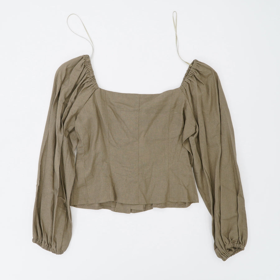 Square Neck Crop Top Size 6
