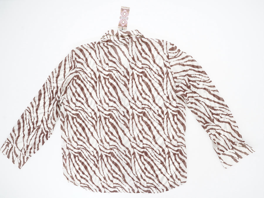 Tiger Beach Blouse Size XL