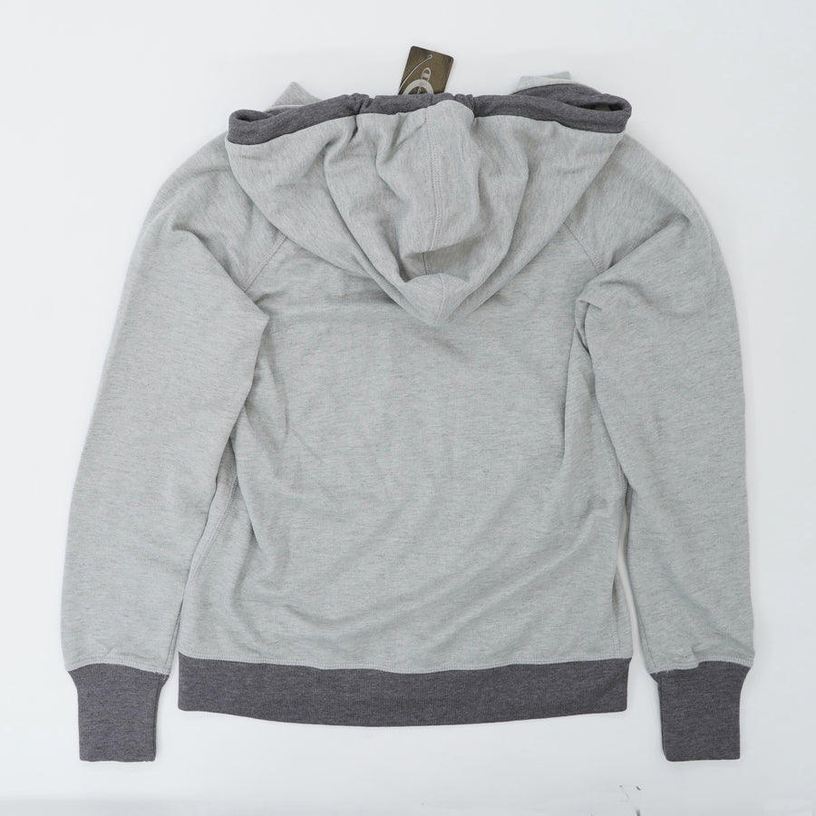 Gray Heather Full Zip With Corded String Hood & Pockets Jacket Size S