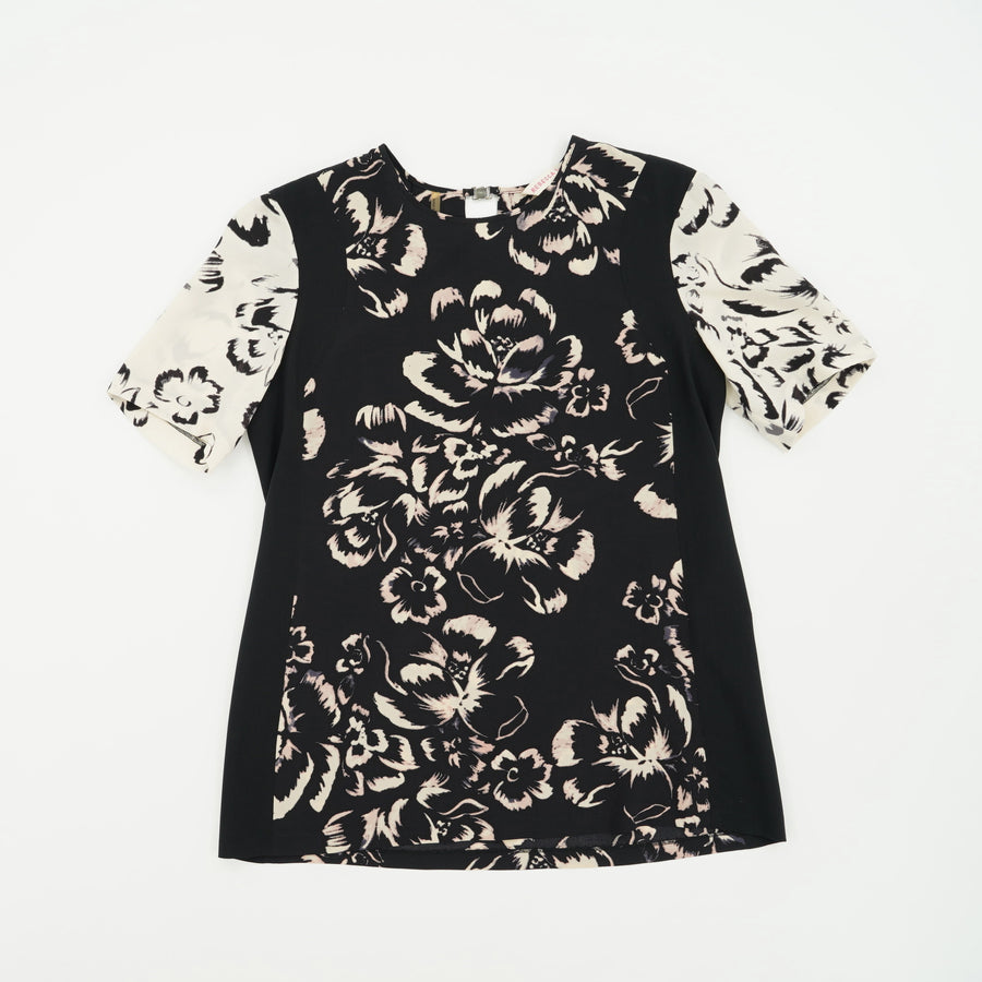 Short Sleeve Floral Blouse Size M