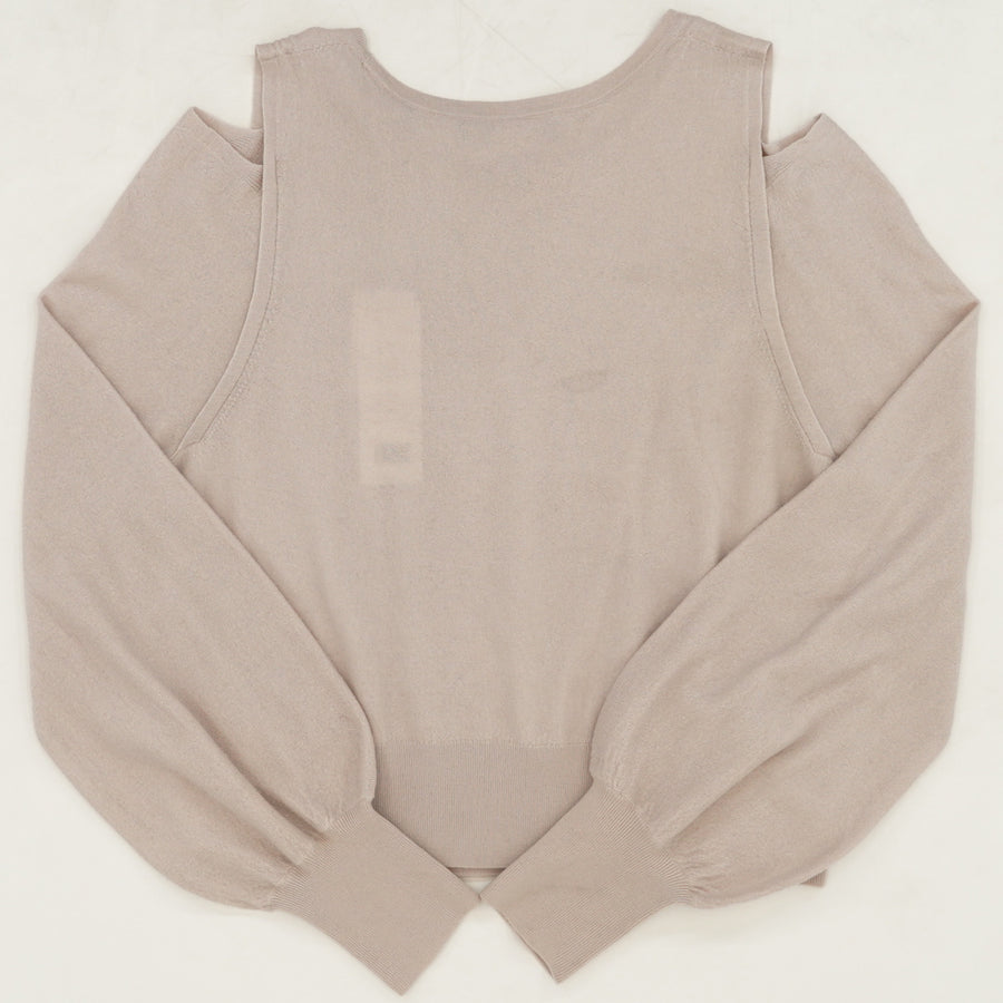 Cold Shoulder Cropped Sweater Size M