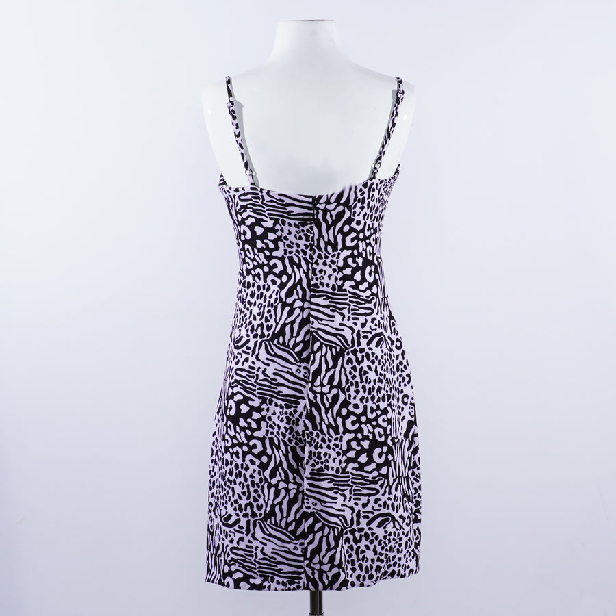 Animal Print Mini Cocktail Dress - Size 4