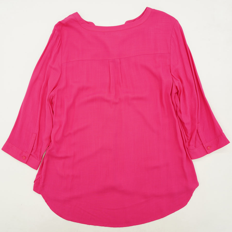 Pink Button-Down Blouse Size 2