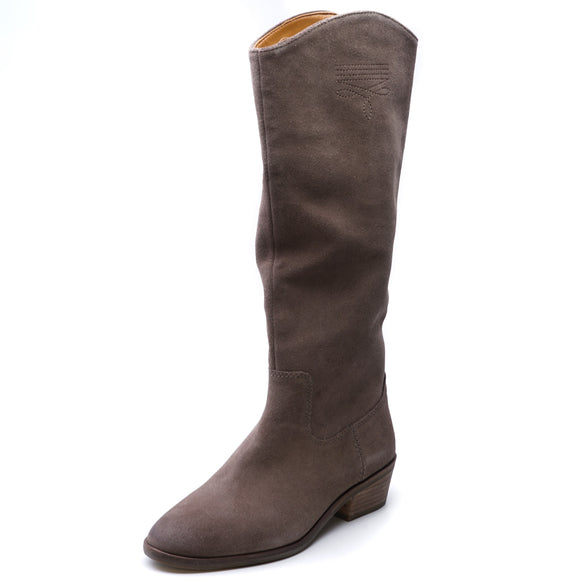 Caden Stitch Tall Boot Taupe Suede Size 7