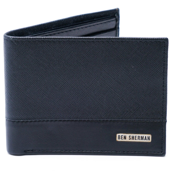 Full Grain Cowhide Smooth Leather Bi-Fold Wallet