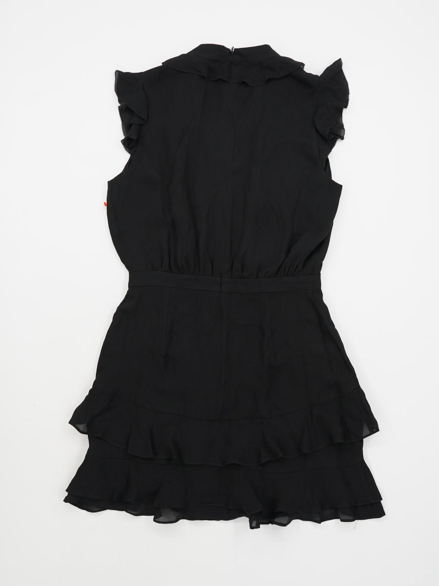 Tangia V-Neck Sleeveless Ruffle Dress Size S/M