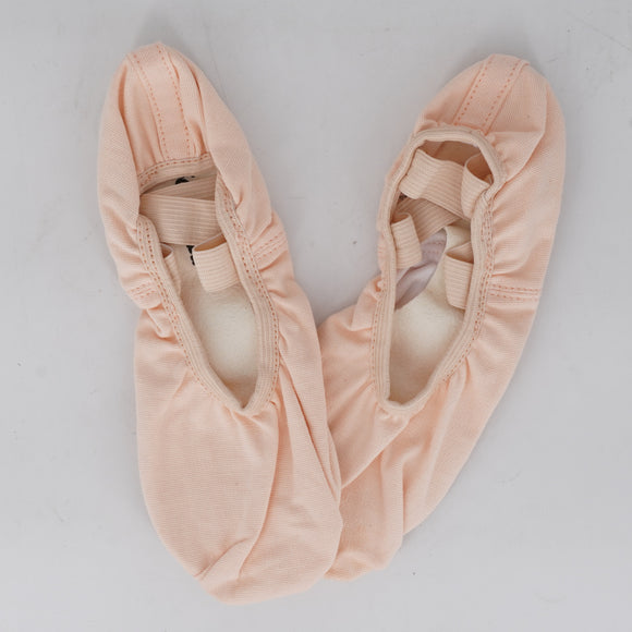 Stretch Canvas Split Sole Ballet Slipper Light Pink